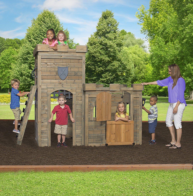 amazon com backyard discovery windsor castle all cedar playhouse