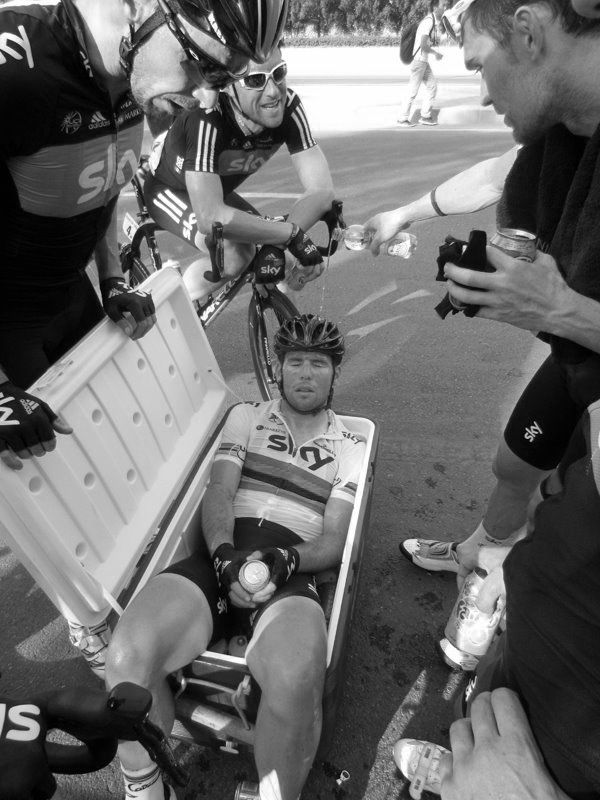 Mark Cavendish: I'd join him any day for an ice bath!!