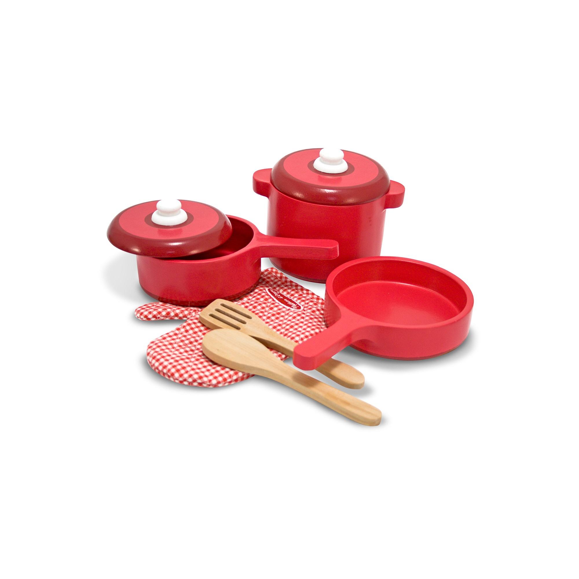 Remarkable Melissa Doug Deluxe Wooden Kitchen Accessory Set Pots Home Remodeling Inspirations Propsscottssportslandcom