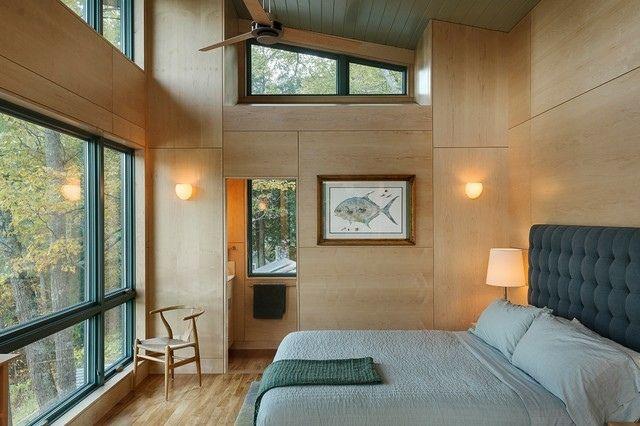 Lambris mural en bois dans la chambre en 27 bonnes idées! | archi ...