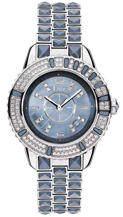 Cd11311gm001 Christian Dior Christal Blue Mother Of Pearl Diamond