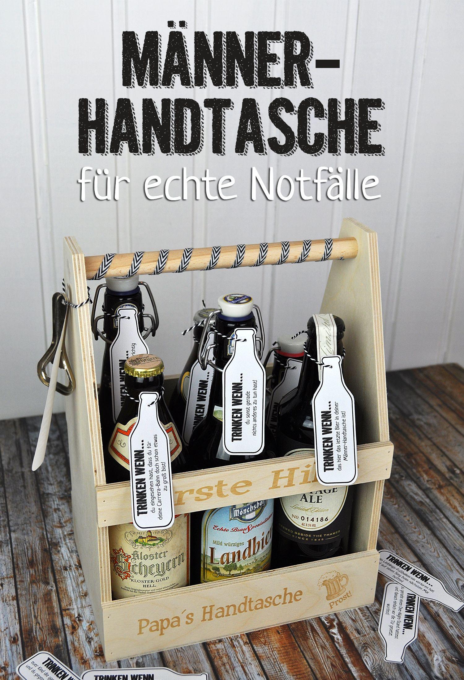 m nner handtasche f r echte notf lle basteln geschenkideen f r m nner presents for men. Black Bedroom Furniture Sets. Home Design Ideas