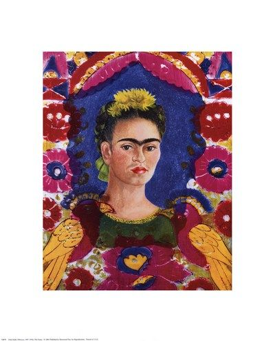 The Frame, Art Print by Frida Kahlo,
