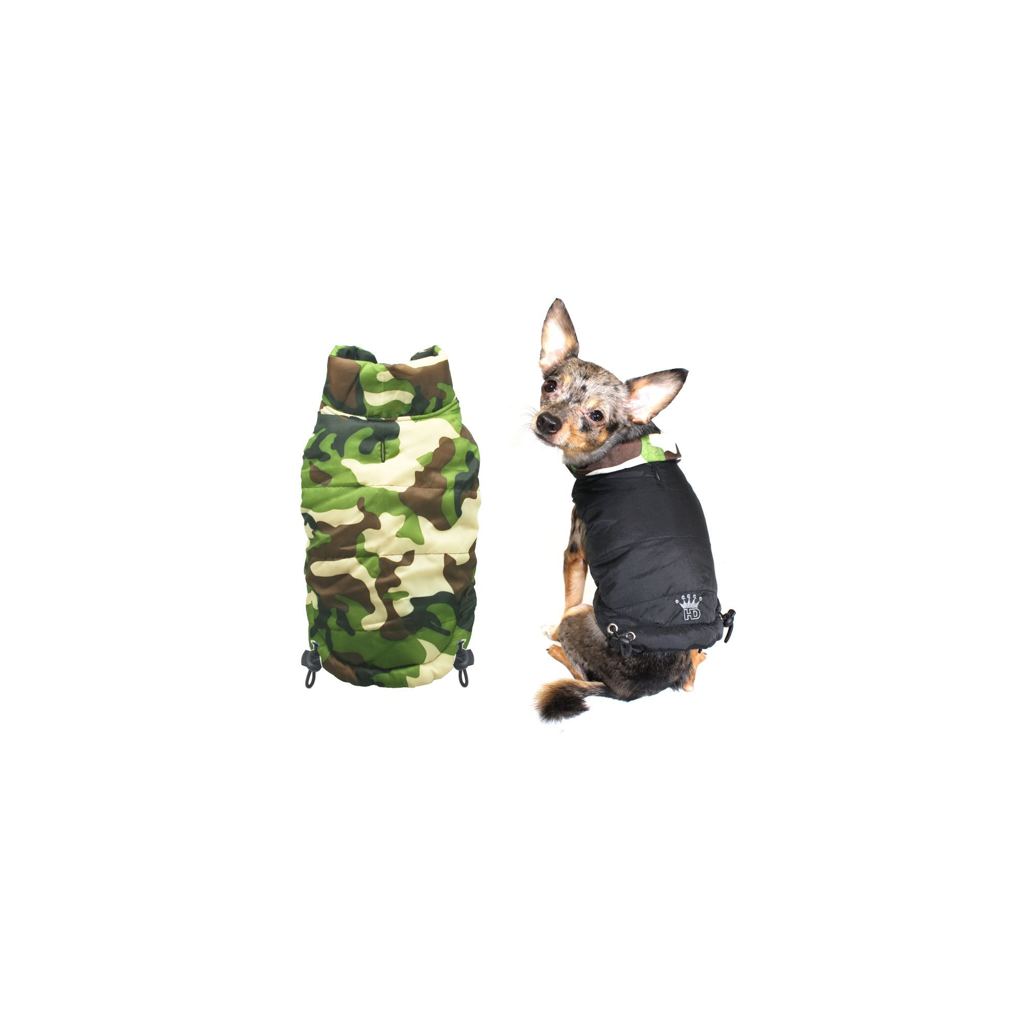 7d65605daed01 Hip Doggie Reversible Puffer Vest size: Big Dog X Small, Black ...