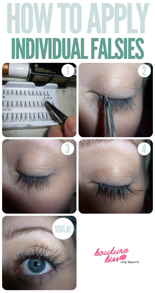 How To Apply Individual Falsies Eyelashes How To Apply Diy Eyelash Extensions Fake Eyelashes
