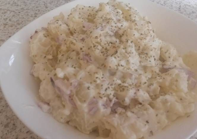 POTATOE SALAD with SOFT CHEESE Recipe -  I think POTATOE SALAD with SOFT CHEESE is a good dish to try in your home.