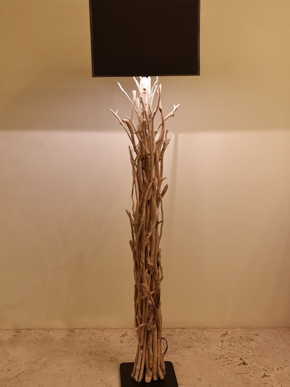 home product coastal beach kathy kuo floor natural buffed driftwood arcadia lamp detail