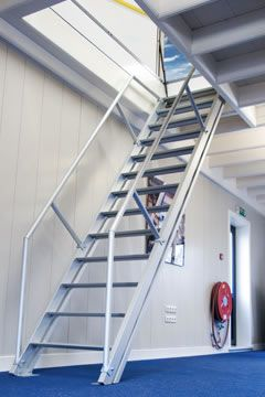 Impressive Automatic Attic Stairs #5 Fixed Roof Access Hatch Ladder