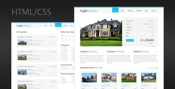 Deals Light House - Clean Real Estate HTML Templatelowest price for ...