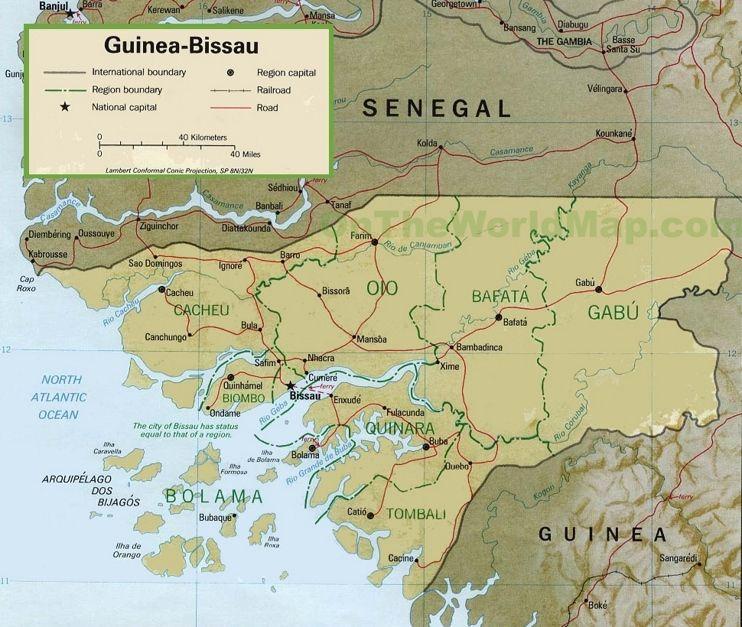 GuineaBissau political map Maps Pinterest Guinea bissau
