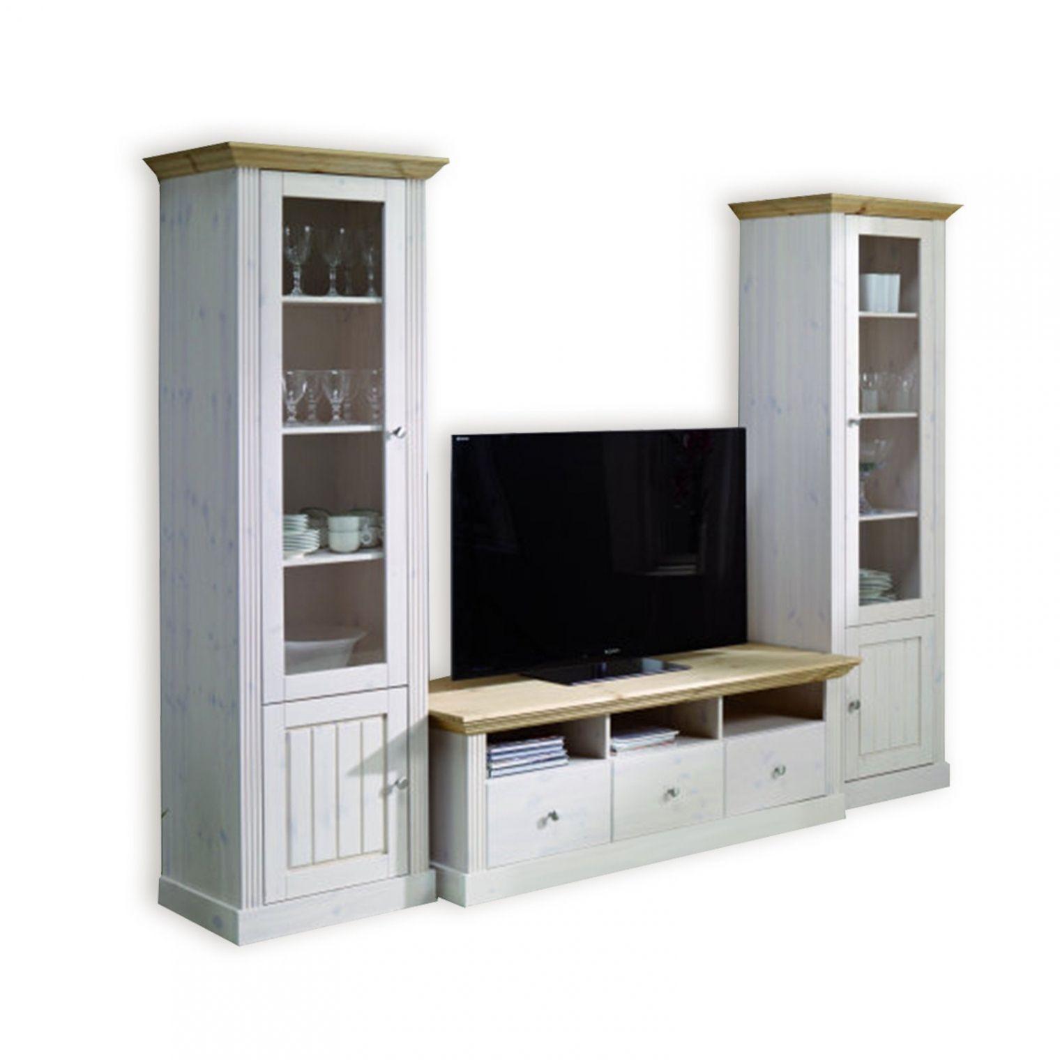 Brillant Wohnzimmerschrank Landhausstil Gebraucht  Wohnwand weiss