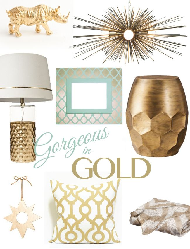 Home Decor Accents home decorating home decor accessories home decor accents interior home decorhome Our Favorite Golden Home Accents