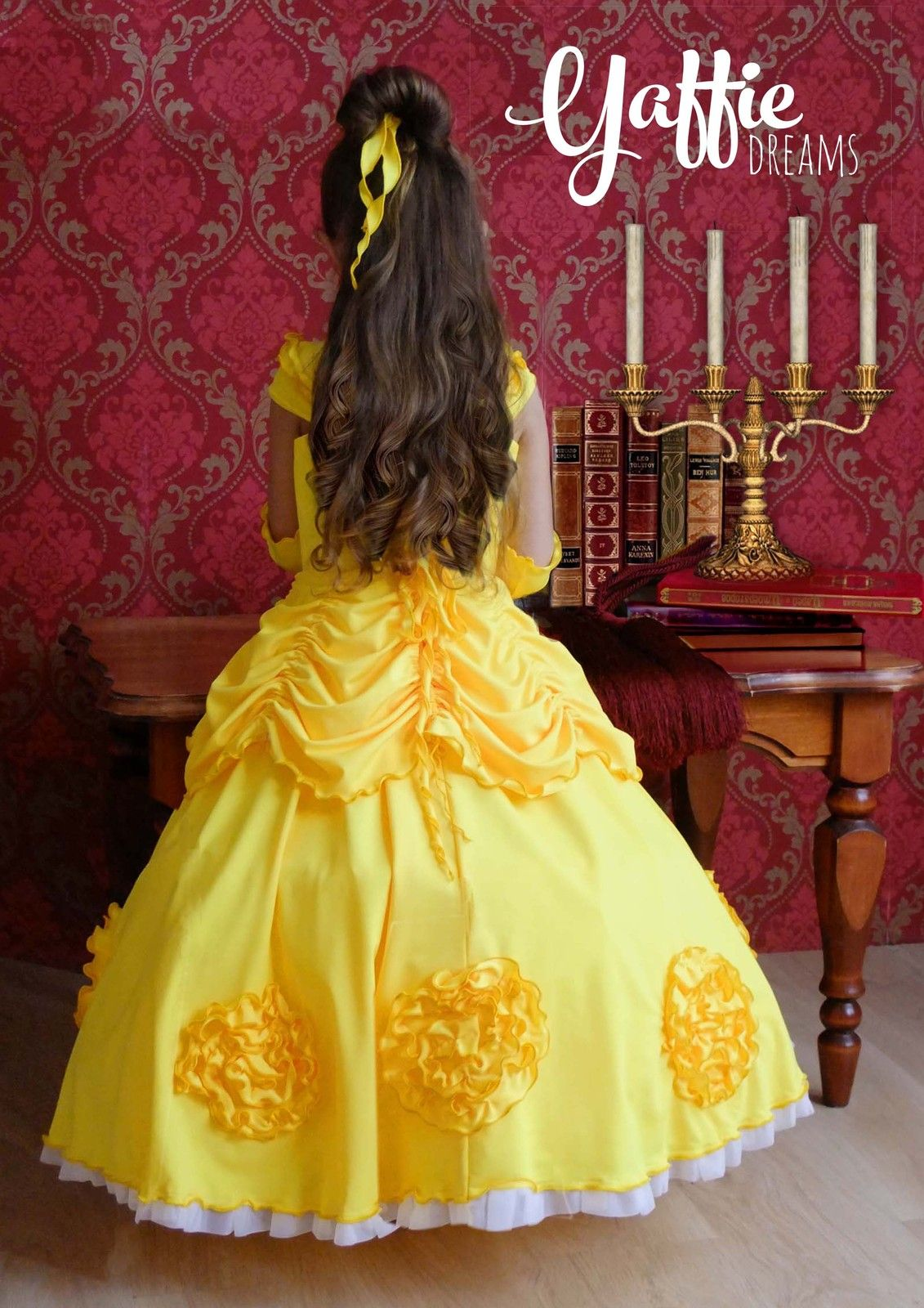 292ed75d8431 Disney Beauty and the Beast dress Halloween cosplay costume Princess Belle  gown Disneyland Rose Birthday Party Gift Ideas Beautiful outfit for flower  girl ...