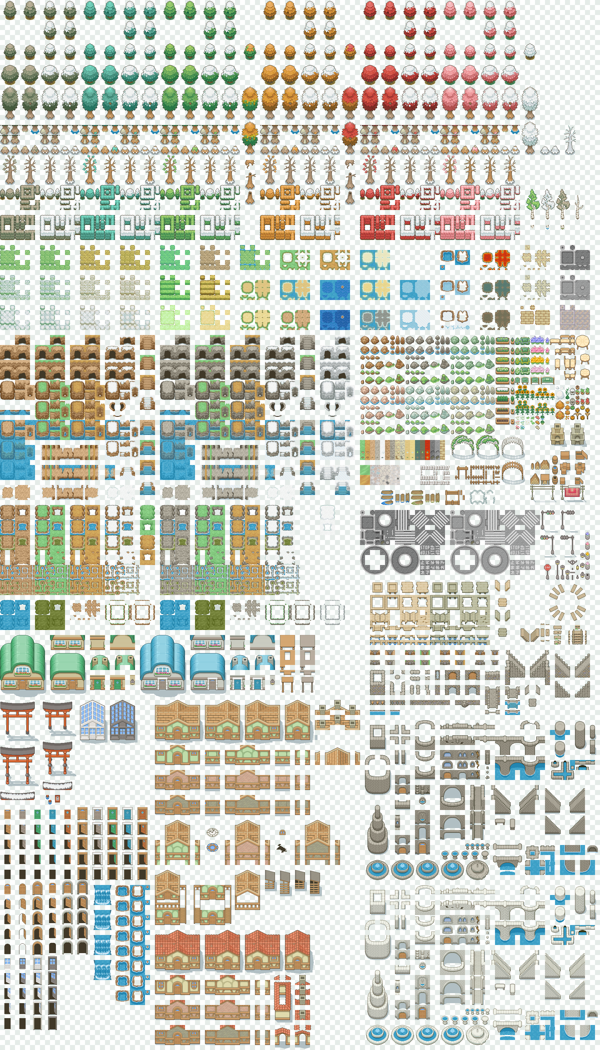 Tileset ver 3 [Free] by Magiscarf | Video games in 2019