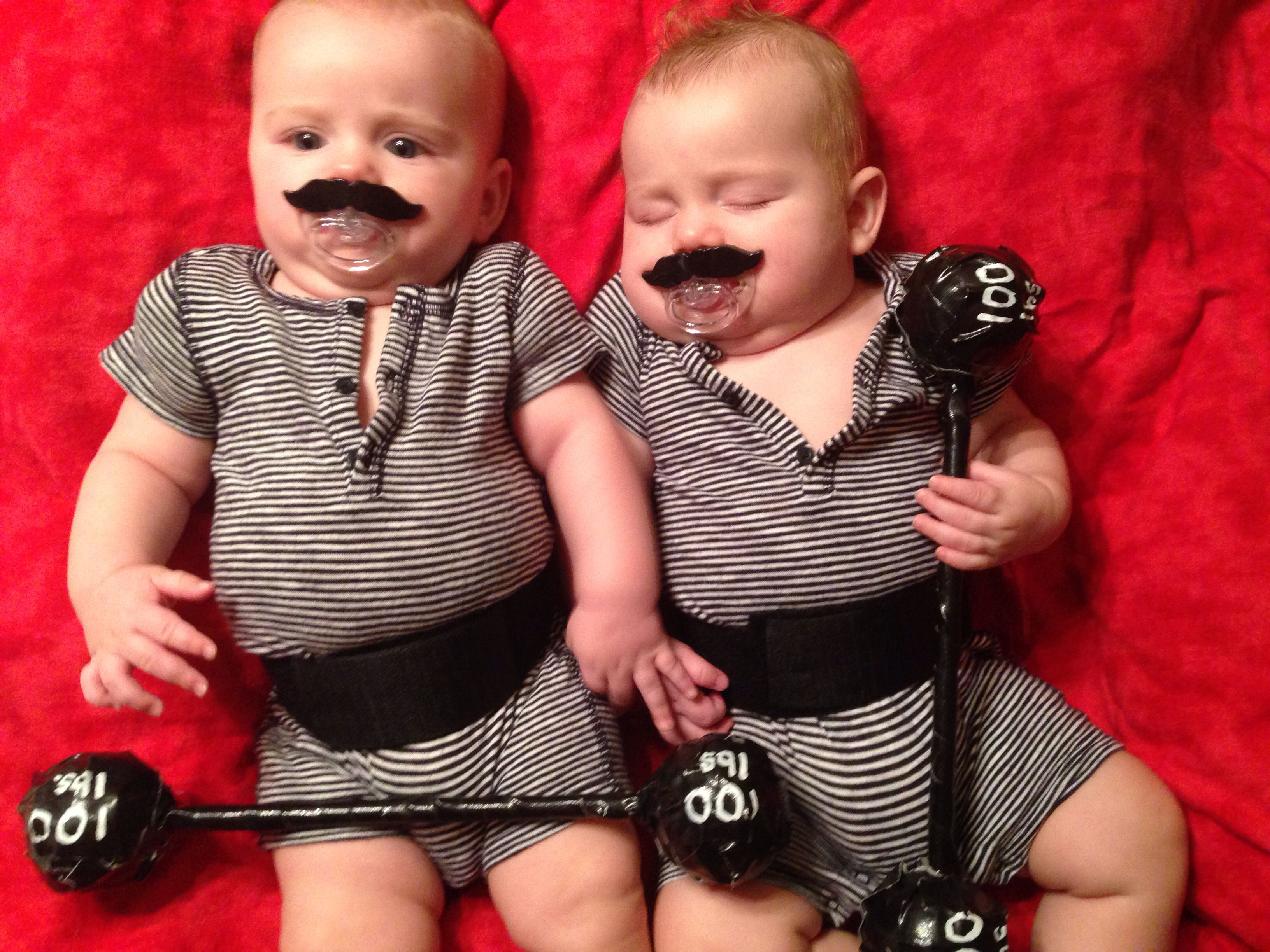 Baby boy, Twins first Halloween costumes. Homemade and free ...