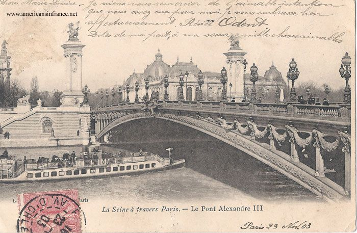 Pont Alexandre III in Paris from a postcard dated November 23rd, 1903.
