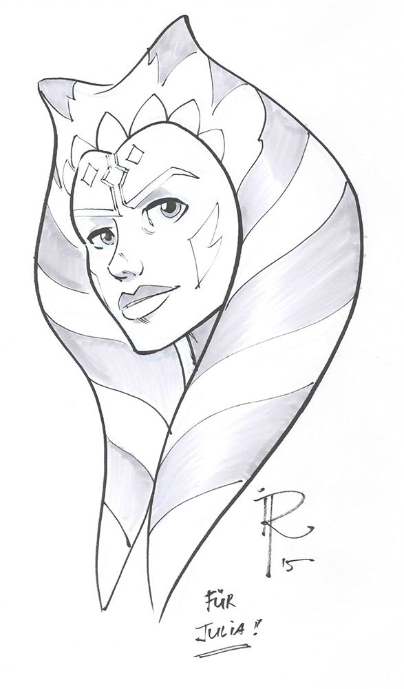 Bad Albstadt sketch ahsoka tano albstadt germany november 14th 2015 inks and