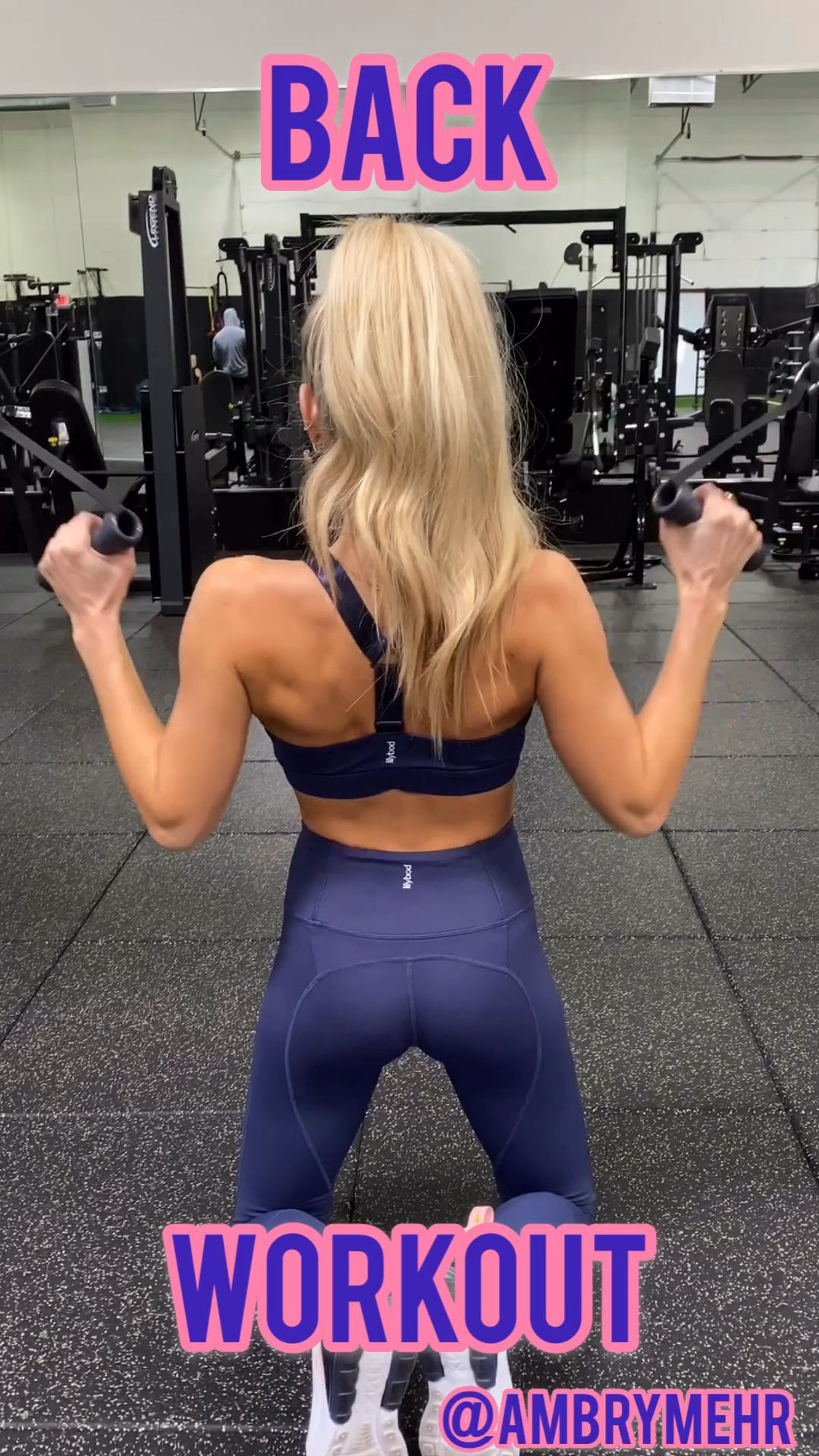 Photo of Back Workout- Follow @ambrymehr IG for daily workouts!