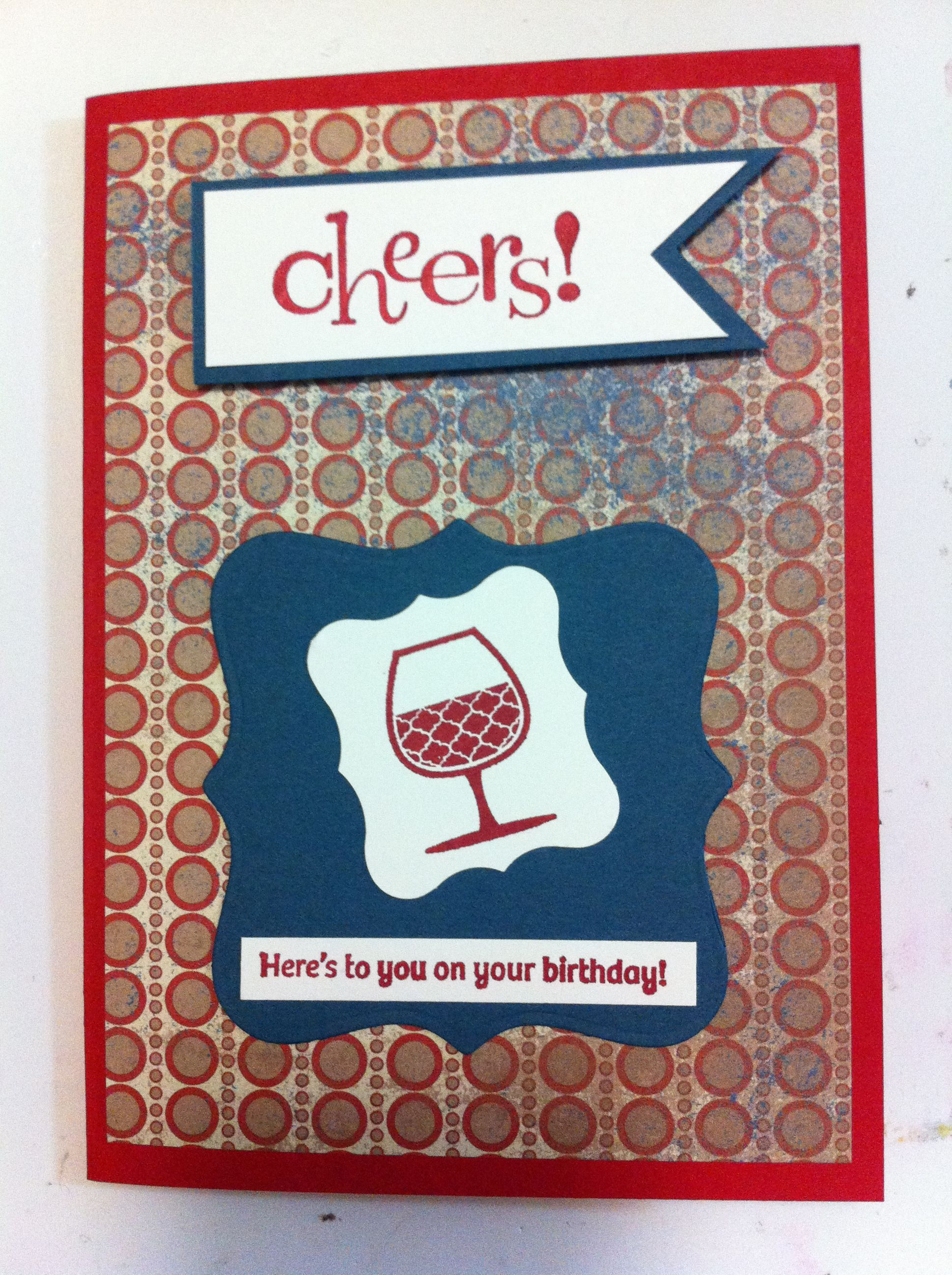 Male Birthday Card Happy Hour Stampin Up