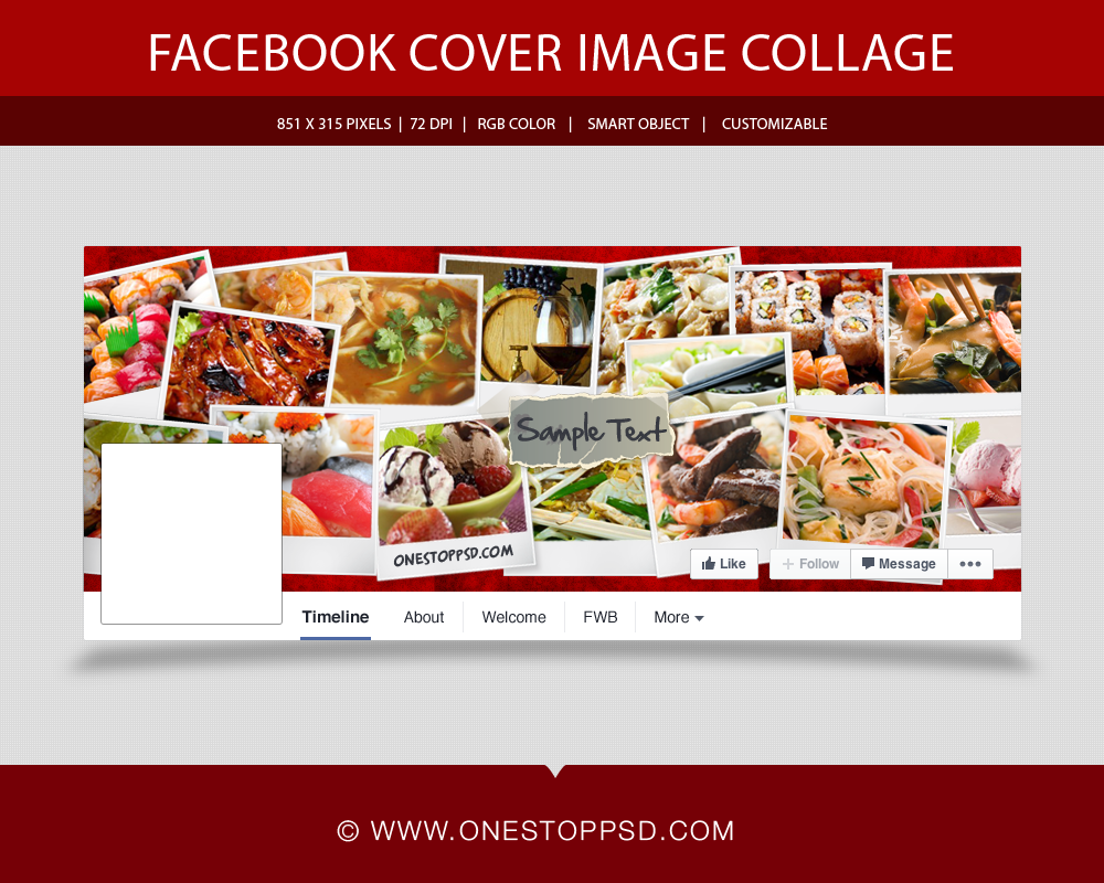Free Psd Image Collage Facebook Timeline Cover  Facebook Cover