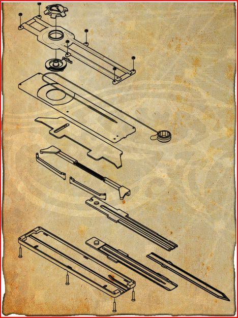Assassins Creed Hidden Blade Blueprints