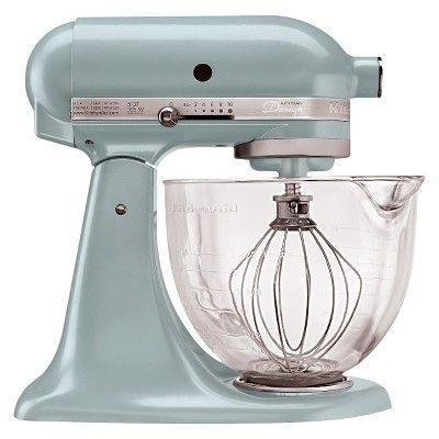 kitchenaid artisan design series 5 qt stand mixer in azure blue rh pinterest com