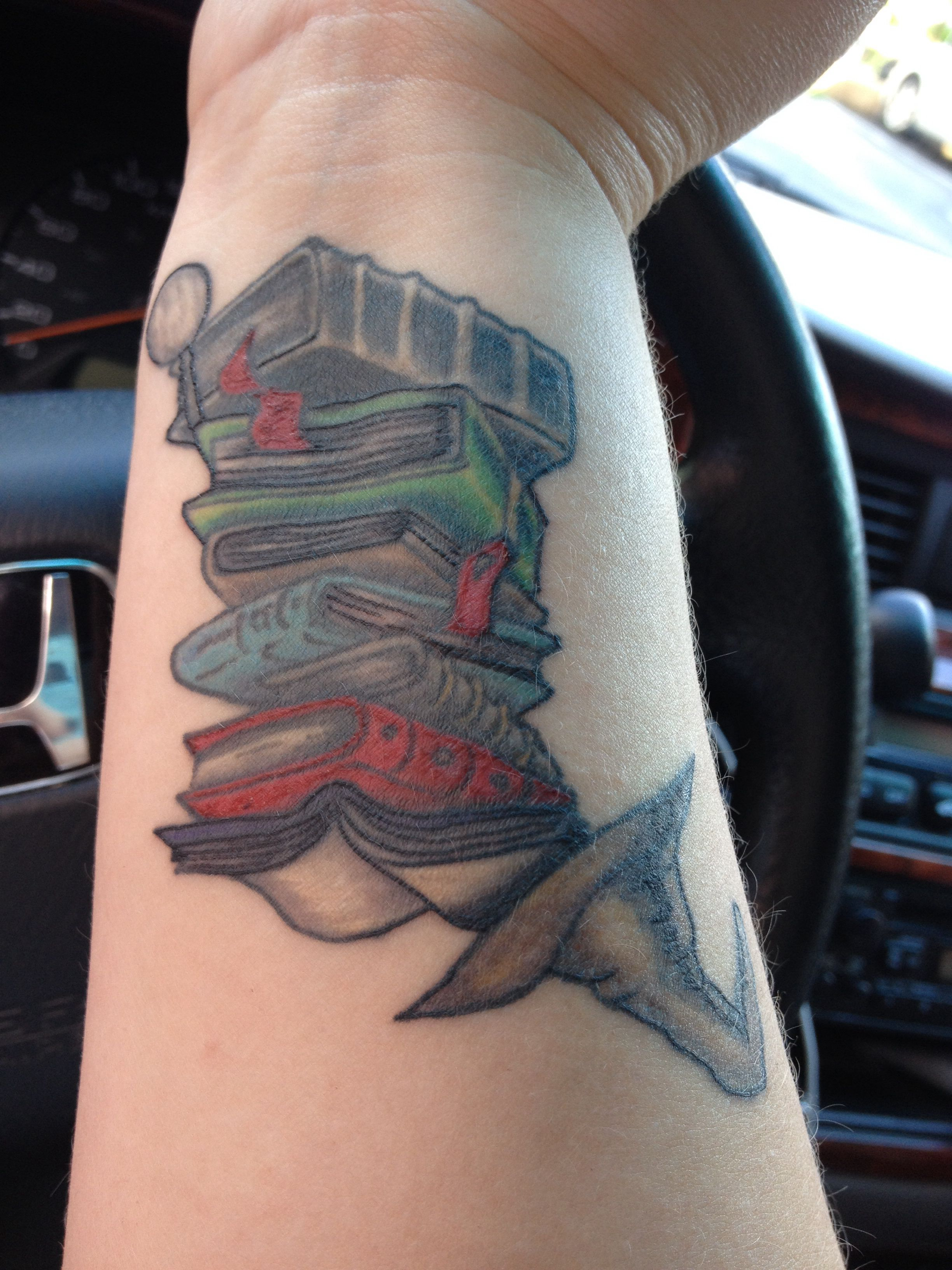My Awesome Tattoo Stack Of Books For My Obsession With