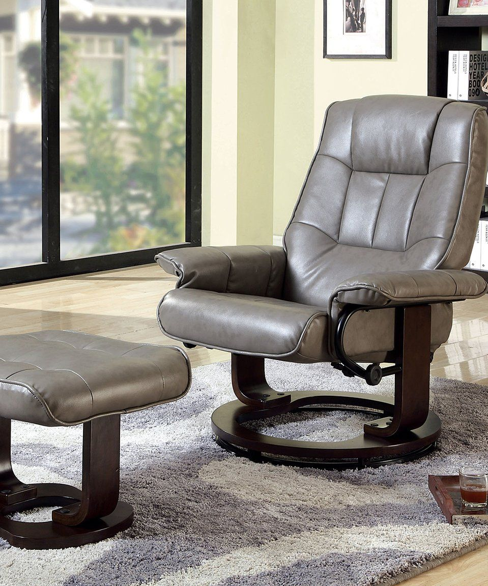 Loving this Serendipity Gray Marcello Leatherette Swivel