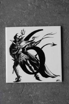 6 - Rory Dobner Number Art Ceramic Tile