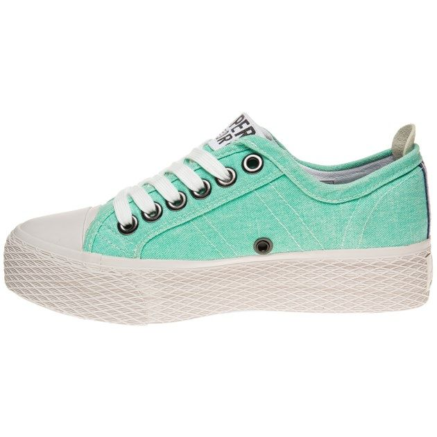 1d171619c6f Cheap Womens Green Superdry Vintage Series Low Trainers at Soletrader Outlet