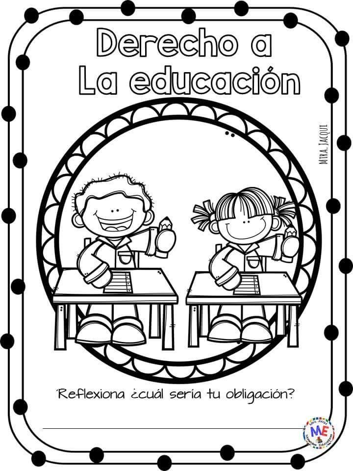 Derechos De Los Niños A La Educacion Para Colorear - Niños ...
