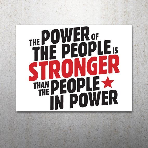 graphic regarding Printable Trump Sign referred to as The Electric power of the Those people PRINTABLE Protest Poster Anti