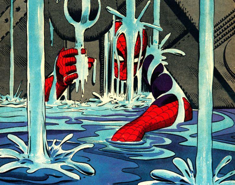 http://conversazionisulfumetto.wordpress.com/2012/09/14/speciale-50-anni-di-spider-man-la-sequenza-del-sollevamento-il-momento-cruciale-di-ditko-su-the-amazing-spider-man/