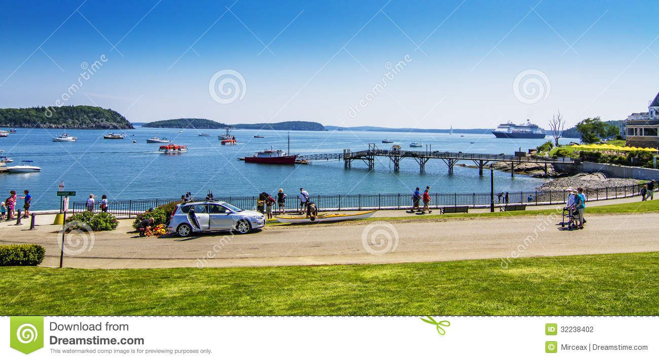 Bar Harbor Maine Photography | Stock Photography: Bar Harbor panorama. Image: 32238402