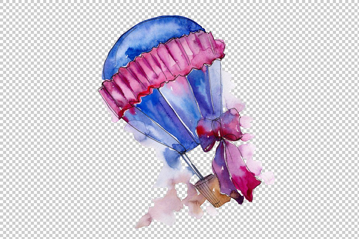 Purple Balloons Png Watercolor Set Sponsored Aquarelle Set