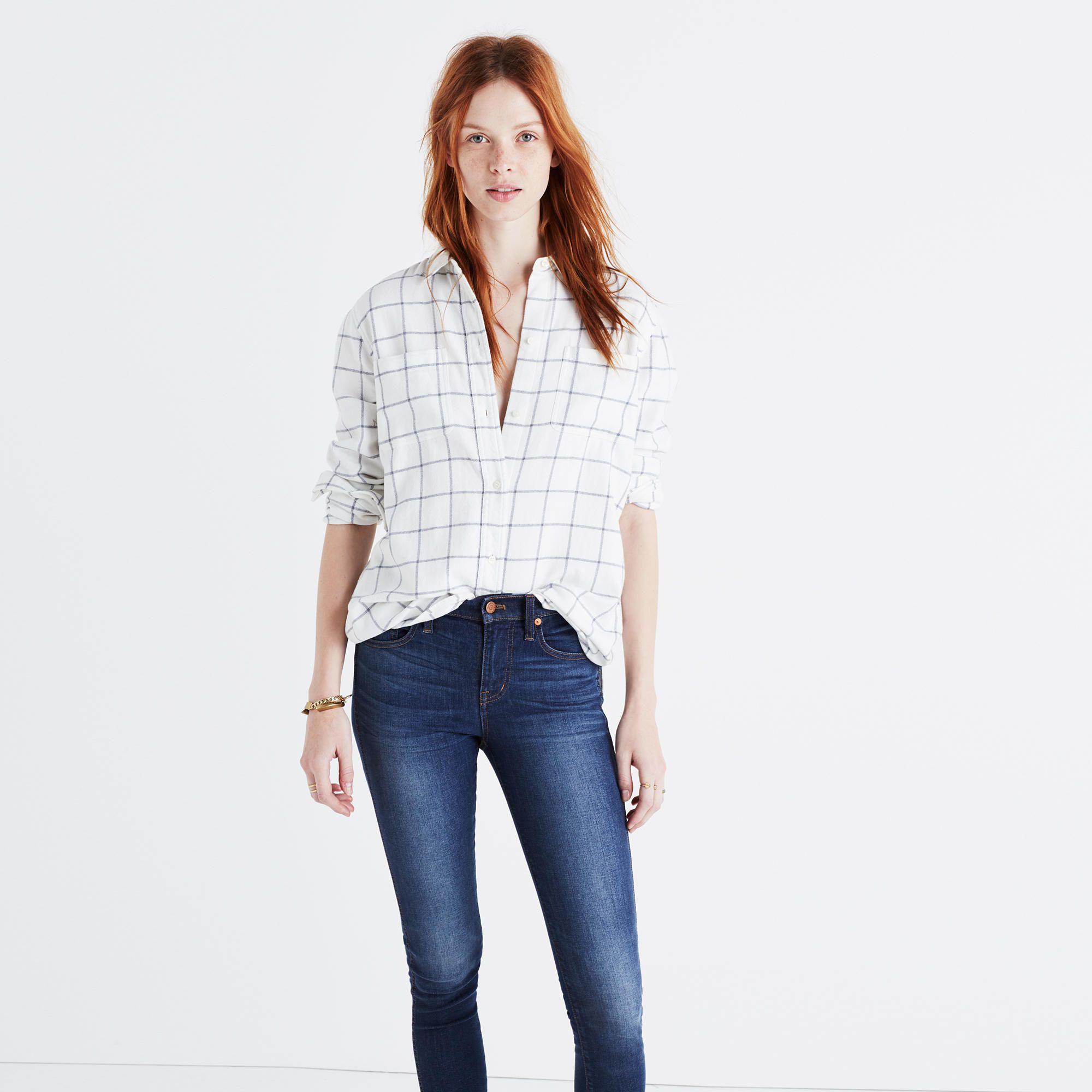 Flannel Classic Ex-Boyfriend Shirt in Windowpane. Flannel  ShirtsFlannelsLadies StyleBoyfriend ShirtShirts & TopsDenimAttitudeWomen's  DressesPlaid
