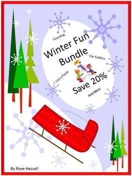 Winter Activities: BUNDLE and Save! Here is what you will receive in this Winter Fun Math Literacy Bundle Autism, PK, K, Special Education. And you will save over 20%