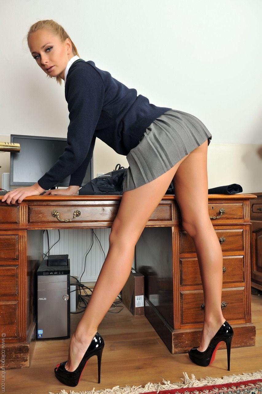 Long sexy legs in heels