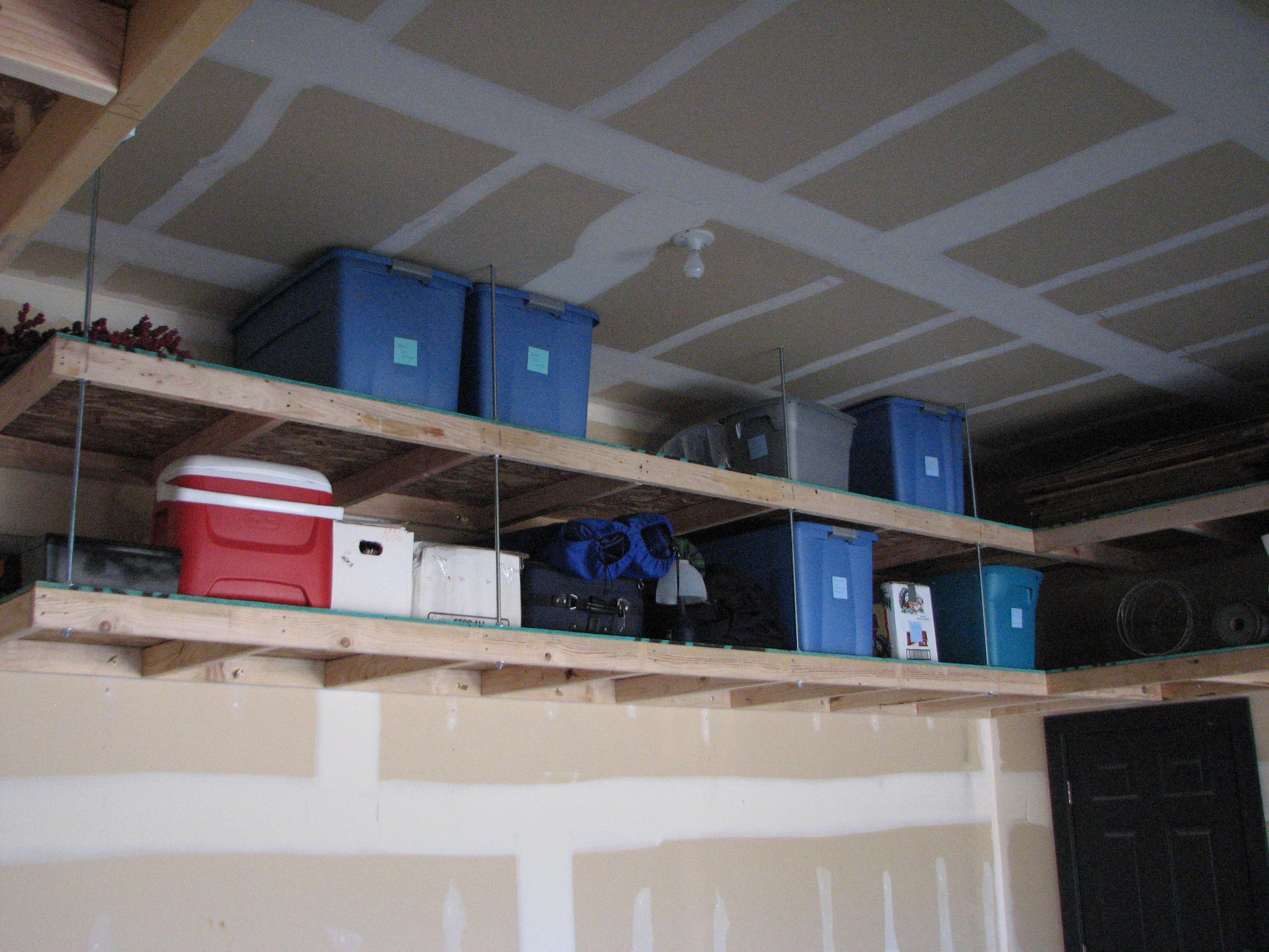 Garage storage baby room pinterest garage storage storage do you have a place where you can put away all your winterseasonal items by installing overhead garage shelving solutioingenieria Gallery