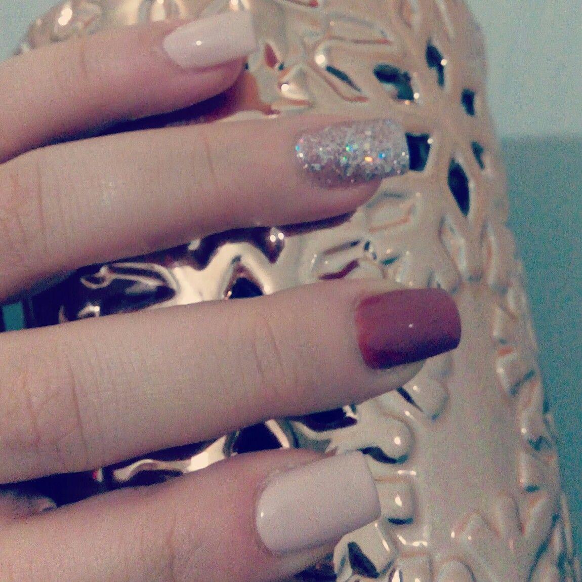 Naildesing coffe nude me encantan  nails  Pinterest