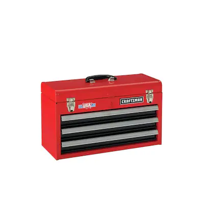 Craftsman Portable Tool Box 20 5 In Ball Bearing 3 Drawer Red Steel Lockable Tool Box Lowes Com Portable Tool Box Portable Tools Tool Box