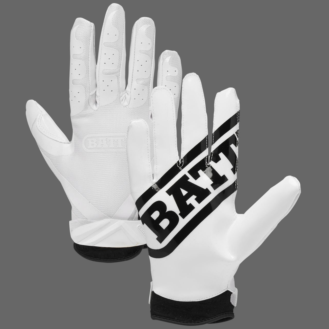Battle adult receivers football gloves whtwht battle