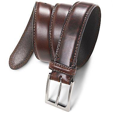 62e359dc3fac Stafford® 35MM Feather Edge Split Belt - jcpenney Leather Belts