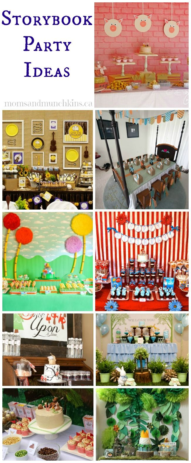 Storybook Party Ideas Moms Munchkins Book Birthday Parties Storybook Party Book Themed Birthday Party