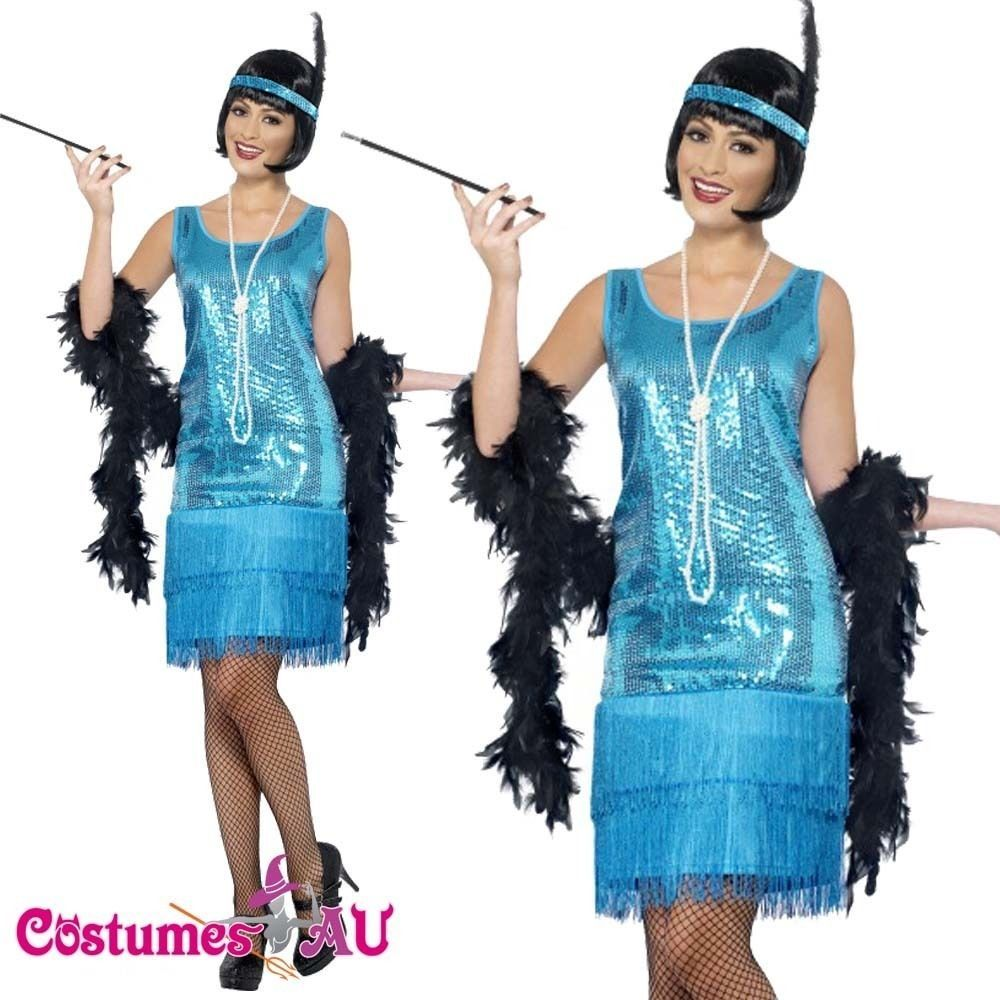 Ladies 1920s Roaring 20s Flapper Costume Charleston Gatsby Outfit ...