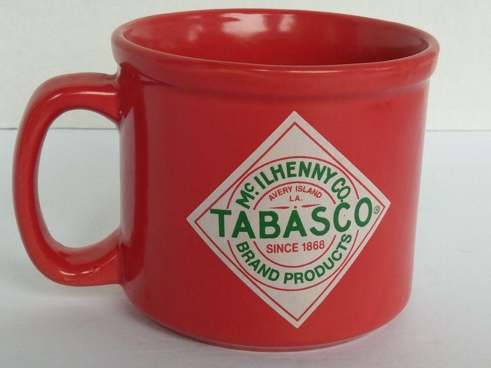 Tabasco Large Coffee Mug 14 Oz Red Advertising Tabasco Large