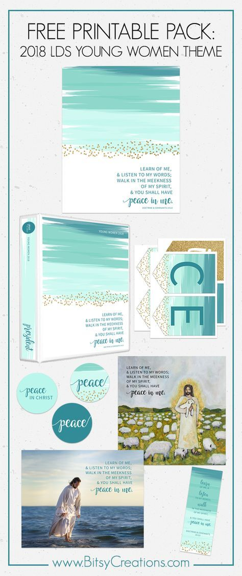 FREE LDS Young Women Printables - Peace in Christ - 2018 LDS Mutual ...