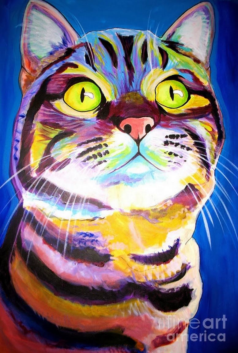 Epingle Par Luzet Sur Arte Animaux Abstraits Peinture De Chat Peinture Chat