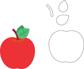 16 Moldes De Frutas Para Hacer Lindas Manualidades Lodijoella Manualidades De Manzana Manualidades Manzanas Dibujo