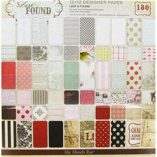 "My Mind's Eye 12"" x 12"" Lost & Found Designer Paper Pack 